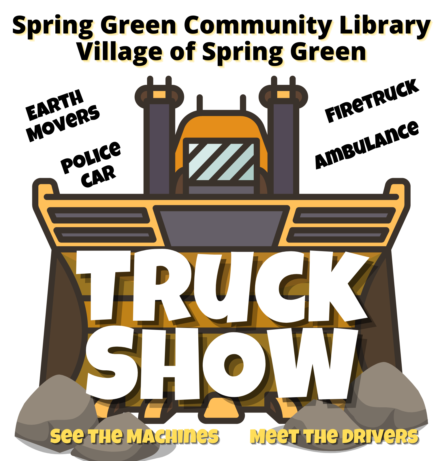 spring green library truck show village